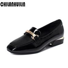 women high heel shoes fashion metal chains square toe dress shoes woman fashion thick heel pumps office lady footwear size 34-43 coolcept 4 color size 33 43 sexy women high heel shoes women pointed toe thick heel pumps office lady party shoes women footwear