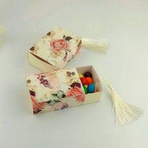 Image 2 - Коробка для конфет, ящик для формирования предметов, женская коробка для цветов, Подарочная коробка для свадебных сувениров, шоколадная сумка, романтичная Свадебная коробка, 50 шт.