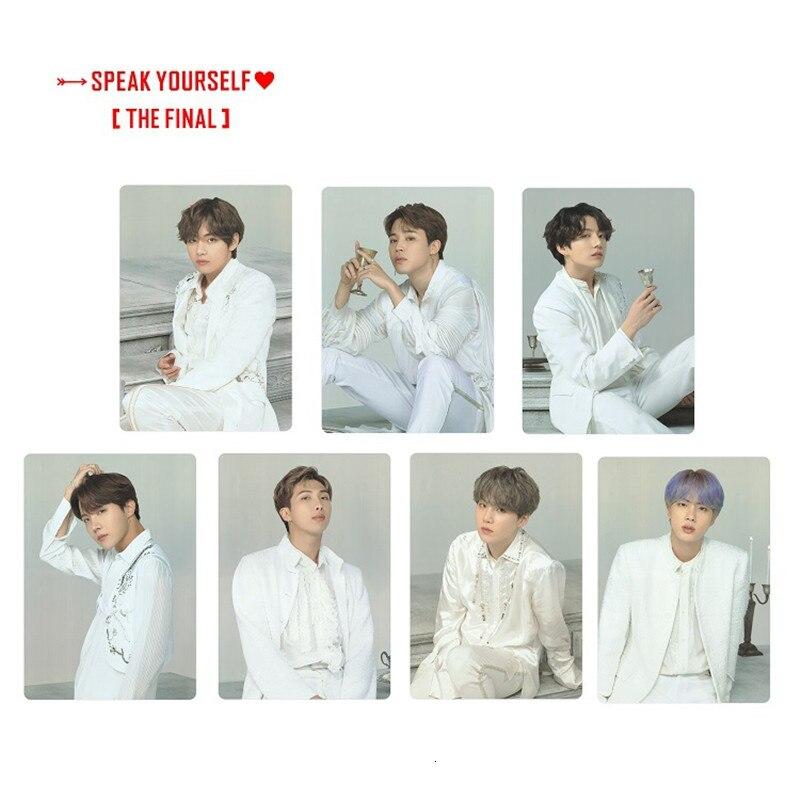 7pcs/set KPOP Bangtan Photocard THE FINAL Album Seoul Field Same Paragraph SUGA Made Paper Lomo Cards V Jk Photo Card Poster