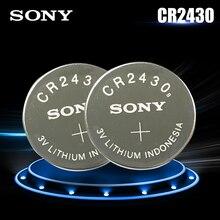 2 pçs original sony cr2430 cr 2430 dl2430 br2430 kl2430 3v bateria de lítio para assistir aparelhos auditivos relógios brinquedo botão da pilha moeda