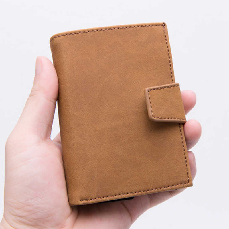 Bisi Goro Mode Anti Rfid Automatische Credit Card Case Multifunctionele Bescherming Porta Tarjetas Naam Card Aluminium Mannen Portemonnee