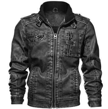 drop shipping brand high quality motorcycle leather jacket men mens leather jackets coats Men Jaqueta De Couro Masculina L-5XL - DISCOUNT ITEM  25% OFF All Category