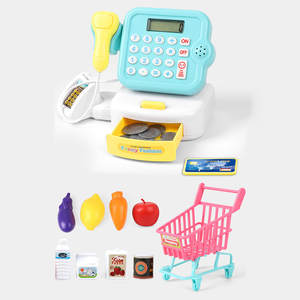 Kids Pretend Toys Simulation Cash Register Shopping Cashier Role Play Game Set L731