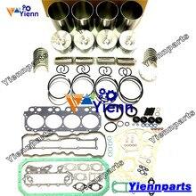 עבור HINO N04C N04C UT N04C UR שיפוץ Rebuil ערכת עם אטם אניה בוכנה טבעת נושאת סט משאית 16V מנוע דיזל חלקי חילוף