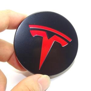 Image 5 - Dla TESLA MODEL X S 3 car styling XWC1385 01 akcesoria samochodowe 56MM 58MM odznaka osłona środkowa ozdobna pokrywka