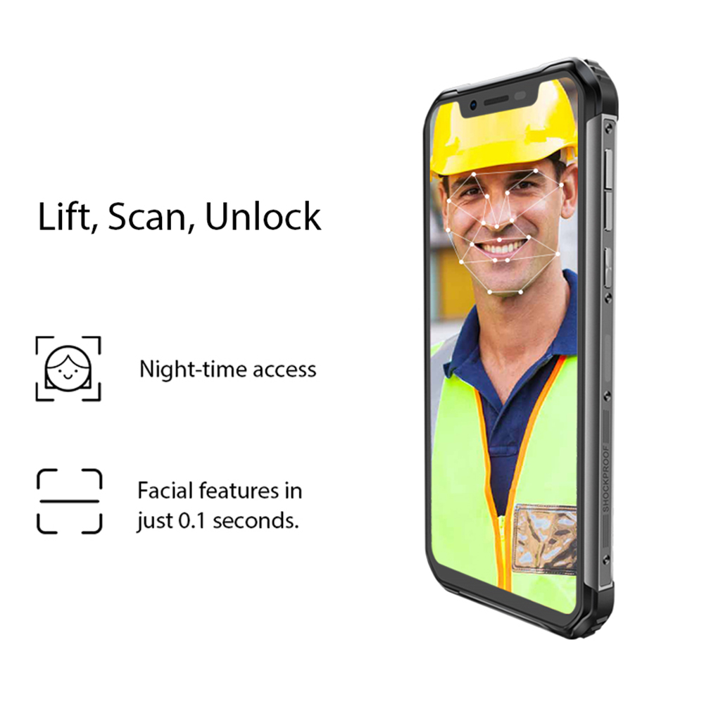 Blackview New BV9600E 4GB+128GB Helio P70 Octa CoreIP68 Waterproof Mobile Phone 6.21'' FHD+ AMOLED Android 9.0 NFC Smartphone