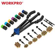 "WORKPRO 15"" Hand Rivet Nut Gun Setter Kit Semi-Automatic Threaded Rivet Tool 79 Piece High Leverage Rivet Nut Tool(China)"