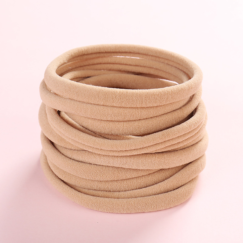 10PC Baby Soft Skinny Nylon Headband Elastic Hair Ropes DIY Hair Accessories 1cm