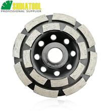 цена на SHDIATOOL  4/100MM Diamond Double Row Grinding Cup Wheel Concrete Granite Marble Grinding Disc Bore 20mm/16mm reducer washer