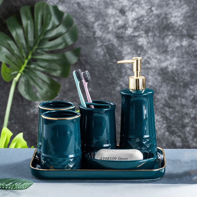 Bathroom Accessories Set Soap Dispenser