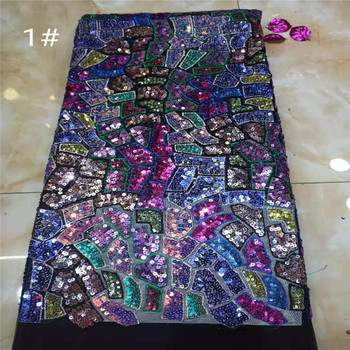 Middle transparent emerald Multicolor African Swiss voile lace original chiffon fabric with Sequins Appliques velvet Healthy use
