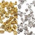 Аксессуары металлические тибетские серебряные бусины-разделители смешанные стильные винтажные бусины для ювелирных изделий 100 шт.
