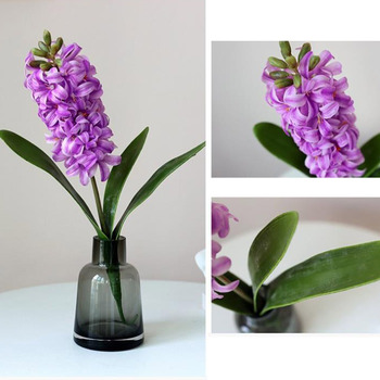 Artificial Hyacinthus Orientalis Flowers Real Touch Mini Good Orchid 25 for Wedding Decorative Flower image