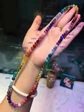Браслет из натуральных радужных камней шириной 6 мм, разные цвета, Ларимар, янтарный аметист, танзанит, аквамарин, Ляпис, бусины, сертификат AAAAA