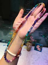 6mm Natural Rainbow Different Mixed Stone Larimar Amber Amethyst Tanzanite Aquamarine Lapis Beads Bracelet AAAAA Certificate
