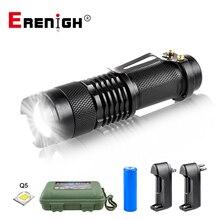 Có Thể Điều Chỉnh Đèn Pin Mini Cree Q5 2000 Lumens LED Đèn Pin Đèn Pin Đèn Lồng AA 14500 Đèn Pin Linterna Đèn Led Gắn