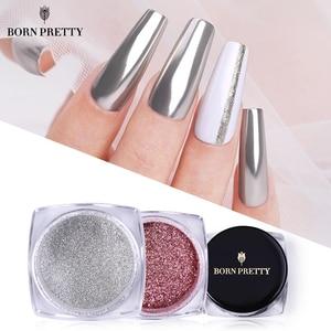 BORN PRETTY Nail Mirror Powder Nails Art Glittering Pigment powder Polish Metallic Manicuring Powder Dust Nails Decorations