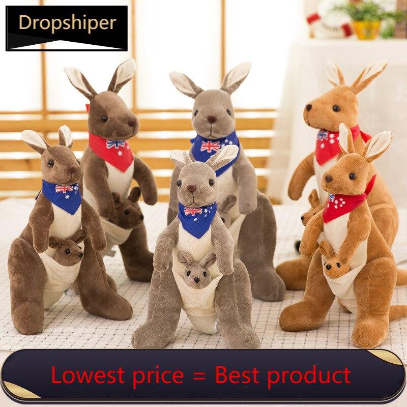 2020 новый милый мягкий плюшевый Кукла в австралийском стиле для мамы и Ребенка Плюшевый кенгуру мультфильм детские игрушки, детские игрушки,...