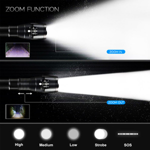 Image 3 - EZK20 Q250 TL360 T6 LED כף יד טקטי פנס זום לפיד אור קמפינג מנורת עבור 18650 סוללה נטענת AAA