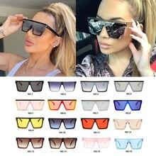 Wholesale Black Silver One Piece Square Sunglasses For Women Oversized Rivet Mir