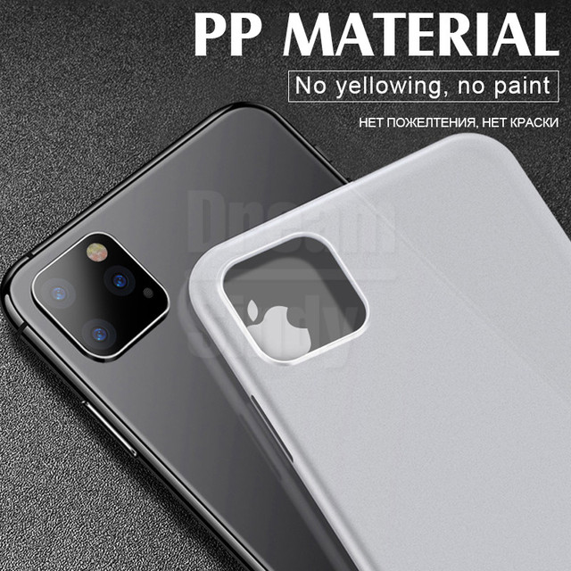 Luxury Ultra Thin 0.26mm PP Case On The For iPhone 11 Pro XS Max XR XS X Case Cover For iPhone 6 6s 7 8 Plus PC Shockproof Case