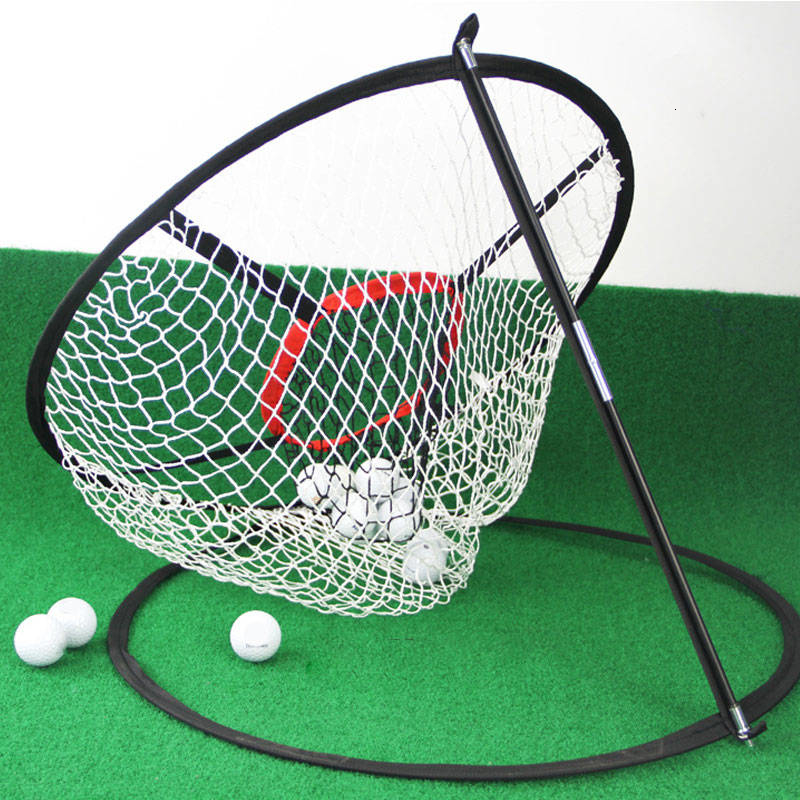 Golf Training Assisted Golf Supplies Indoor Outdoor Golf Pitching Cage Golf Chipping Net Training AidsPractice Easy Network
