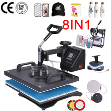 8 In 1 Heat Press Machine For Plate/Mug/Cap/TShirt Etc, Press printer,Multifunctio sublimation Heat Press/Heat Transfer Machine