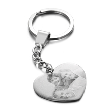 Stainless-Steel Custom Necklace Jewelry Name Heart Engraved Blank Photo Personalized