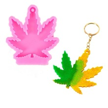 DIY Crystal Silicone Mold Maple Leaves Key Chain Pendant Mold Jewelry Necklace Casting