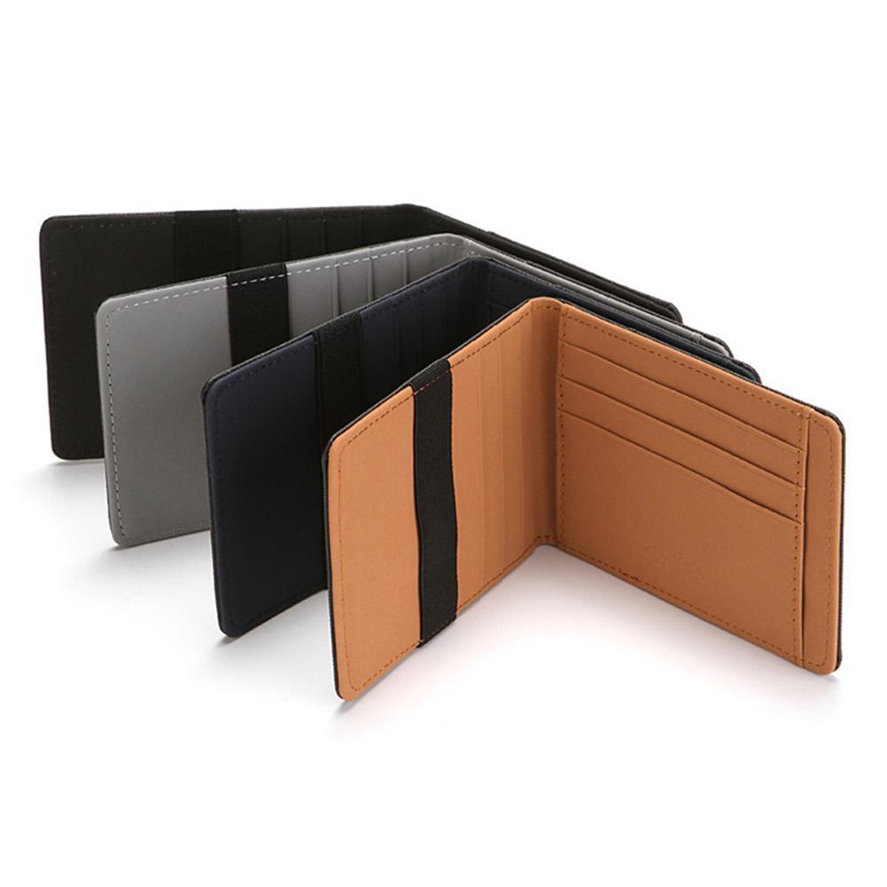 Minimalist Card Holder Slim Wallet RFID Blocking Men Secure Faux Leather Bag Wallets