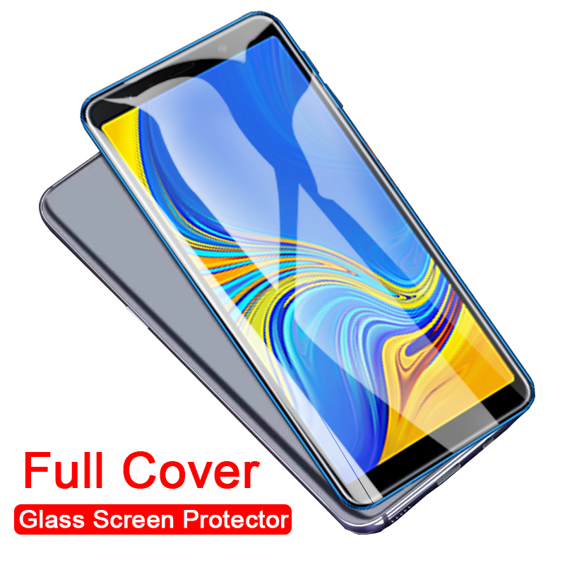 Screen Protector For Samsung Galaxy A9 A7 2018 A6 A8 Plus 2018 A5 2017 J6 Plus 2018 Tempered Glass Full Cover Protective Glass