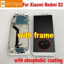 מקורי חדש Xiaomi Redmi S2 Y2 10 נקודת מגע לוח מסך IPS LCD תצוגת Digitizer עצרת עם מסגרת זכוכית חיישן pantalla