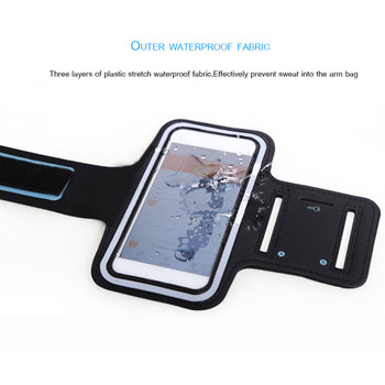BLACK Waterproof Gym Sports Running Armband for Iphone 11 Pro Max Xs Max XR X 8 4s 5s 5c 6 6s 7 7s Plus Arm Band Phone Bag Case 4