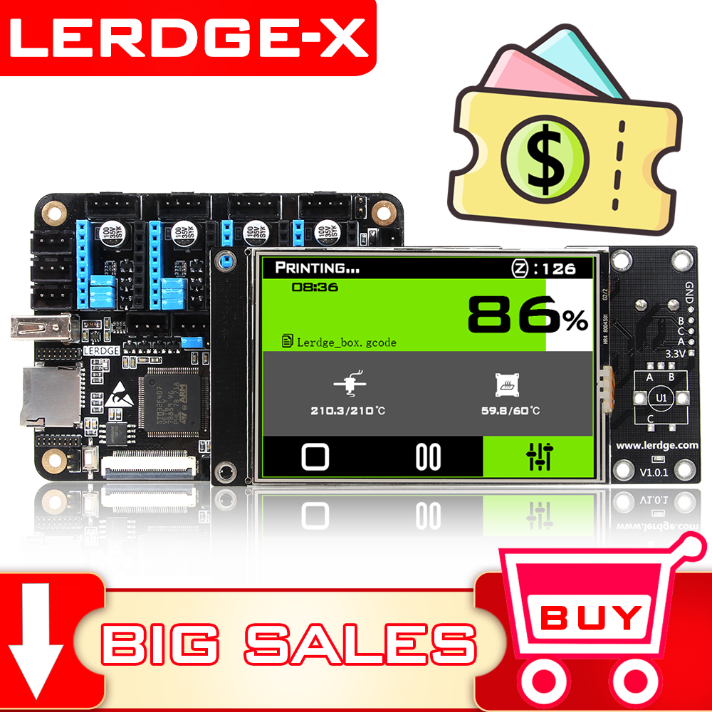 LERDGE-X 3D Printer Board 32bit For Control Board Parts Motherboard With STM32 ARM 32 Bit Mainboard Tmc2208 Lv8729 TMC2209
