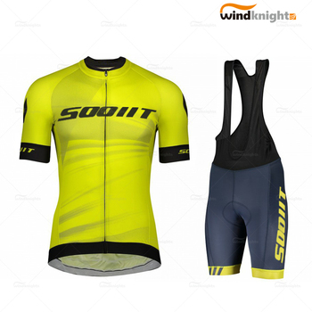 Men Short Sleeve Jersey Set 2020 Scottes Rc Summer Road Cycle Clothing Outdoor Pro Team  Ropa De Ciclismo Hombre Quick-Dry