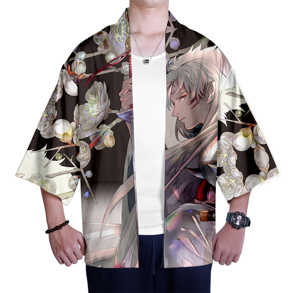 Image 5 - Japanese kimono Inuyasha Mens Womens Wear 3D Kimono Traditional Clothing Fashion Popular Family Casual Wear Comfort TopsAsia & Pacific Islands Clothing   -