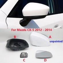 Tampa do quadro de cobertura espelho lateral do carro habitação vidro asa porta espelho retrovisor luz transformar lâmpada sinal para mazda CX 5 cx5 2012 2013 2014