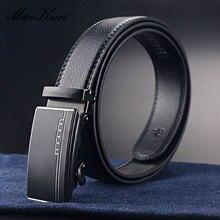 Maikun Belts for Men Automatic Buckle Leather Belt Luxury Business