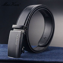 Maikun Belts for Men Automatic Buckle Leather Belt Luxury Me