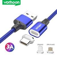 Vothoon 3A cavo USB magnetico cavo Micro USB tipo C a ricarica rapida per Samsung iphone 11 Pro cavo caricatore per telefono cellulare con magnete