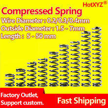 HotXYZ 65Mn Cylidrical Coil Compression Small Spring Y Type Return Pressure Compressed Spring Steel Wire Diameter 0.2 0.3 0.4mm