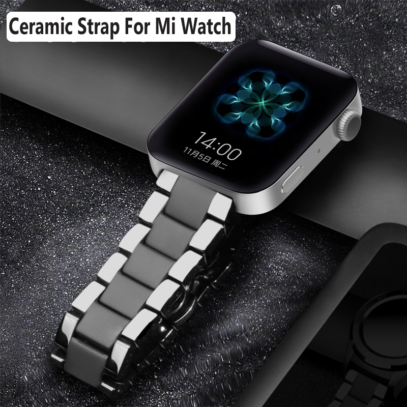 Керамический ремешок для часов для xiaomi smart watch сменный ремешок для mi часы браслет-цепочка ремешок аксессуары