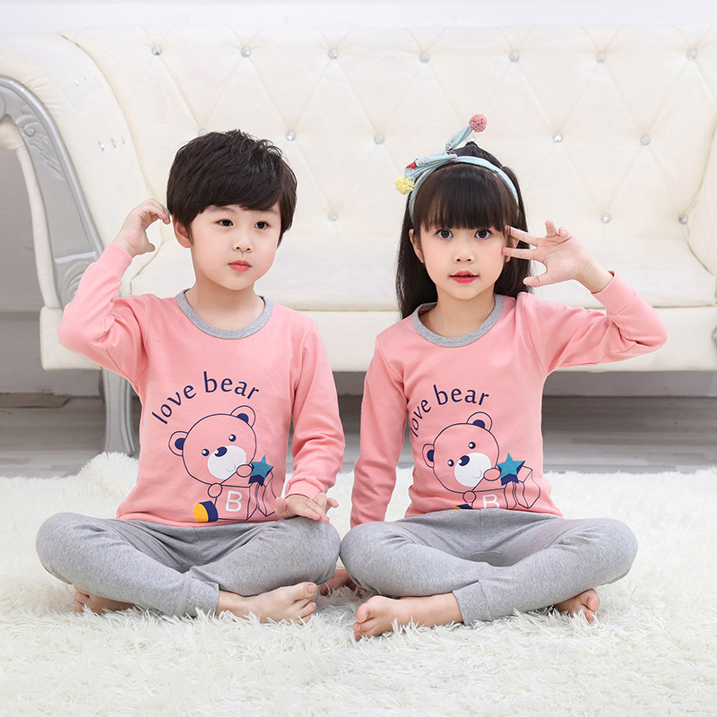 Fall Children Pajama Sets Cartoon Kids Pijamas Homewear Clothing Pajamas For A Boy Of 12 Years Sleepwear Cotton Teens Nightwear 3