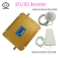 New Cell Phone Booster UMTS 3G repeater LCD Display GSM 900mhz 65dB Gain Repeater and antenna