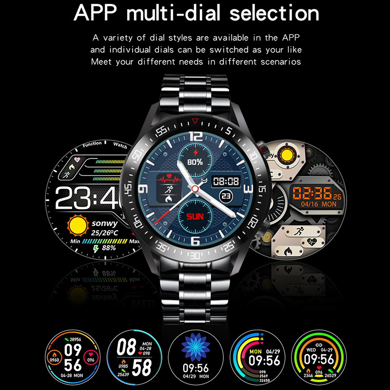 2020 New Steel Band Digital Watch Men Sport Watches Electronic LED Male Wrist Watch For Men Clock Waterproof Bluetooth Hour+box 4