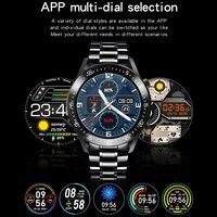 Lige 2020 nova banda de aço relógio digital dos homens do esporte relógios eletrônicos led masculino relógio de pulso para homens relógio à prova dbluetooth água bluetooth hora 4