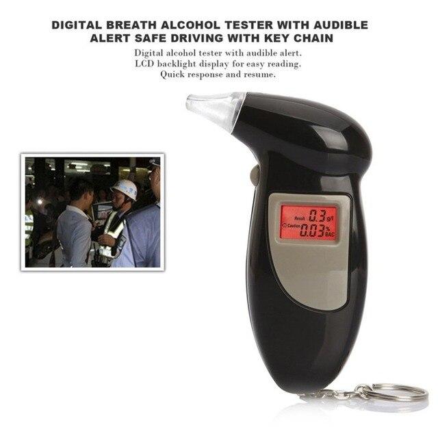 1PCS Portatile Retroilluminazione Digital Alcohol Tester Digital Breath Alcohol Tester Etilometro Analyzer LCD Rilevatore di Luce Della Retroilluminazione 4
