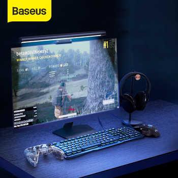 Lámpara LED de escritorio Baseus con atenuación continua, para el cuidado de los ojos, para ordenador, PC, Monitor, barra de pantalla, luz colgante, lámpara LED de lectura alimentada por USB