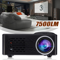 LEORY Newest 7500 Lumens 1080P HD LED Portable Projector 320x240 Resolution Multimedia Home Cinema Movie Beamer Video Theater