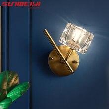 Современные светодиодные настенные лампы медный декоративный